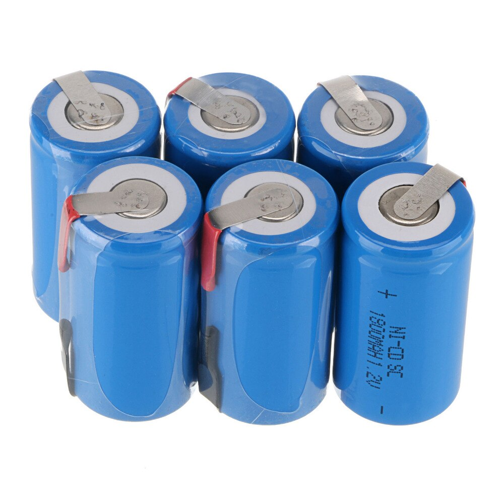 10 stücke 1800mAH Akku Haushalt Sub C SC Batterie Elektronische Gerät NI-CD Batterien Mit PCB