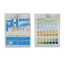 100 şeritler PH4.5-9.0 alkali pH test kağıdı şeritler göstergesi Litmus testi vücut seviyesi İdrar ve tükürük 30% kapalı