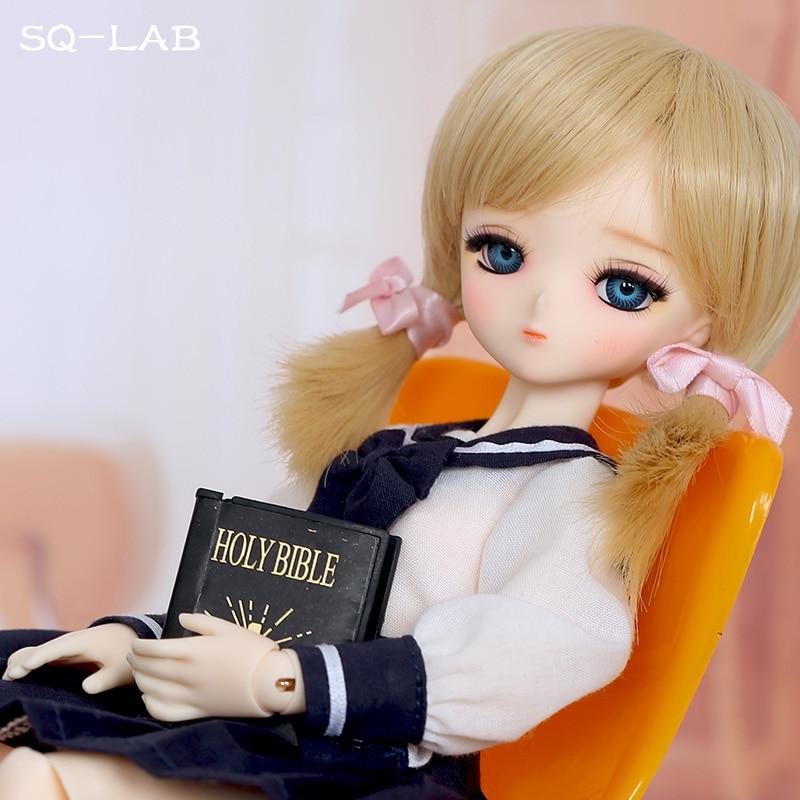 Фигурки OUENEIFS SQ Lab Chibi Tsubaki, 31 см, 1/6 BJD SD, модель из смолы, для маленьких девочек и мальчиков, куклы, глаза, высококачественные игрушки, фигурки, п...