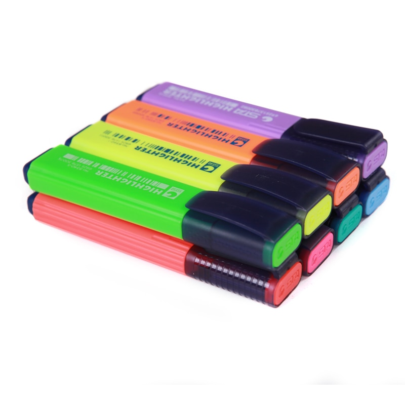 Marcador de Color plumas 8 marcador de colores pluma arte suministros 8 unids/set y producto de la escuela, la Oficina suministros de regalo
