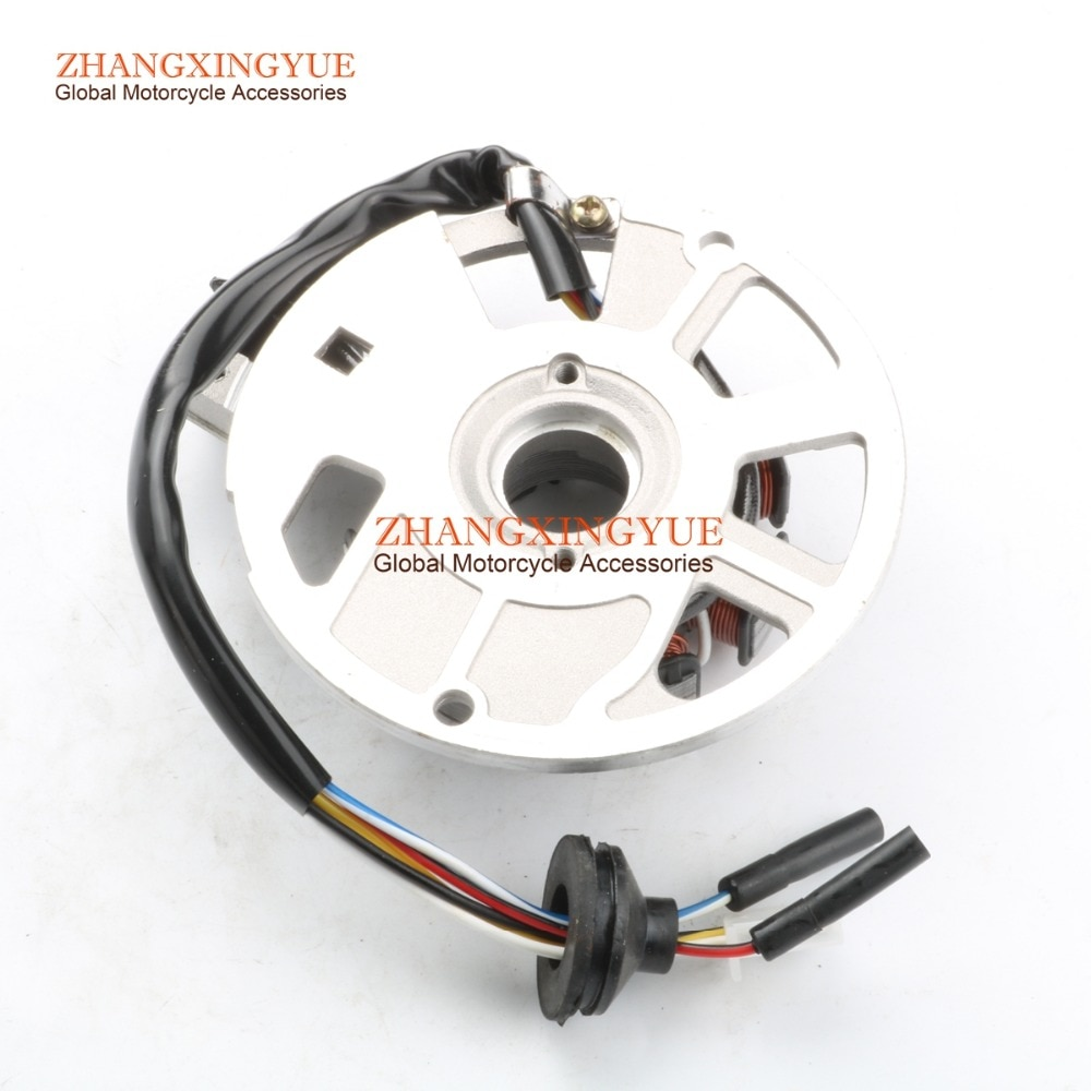 7 катушка 6 провод переменного тока статор магнето для MALAGUTI F12 Phantom 50 AC