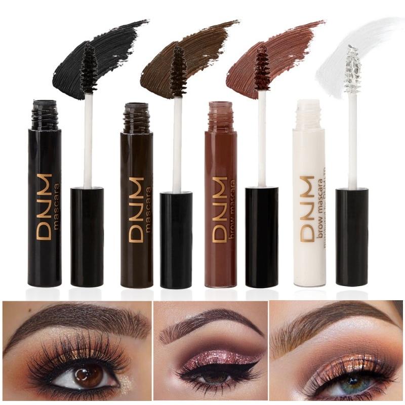 4 colores profesional impermeable máscara ojos cosméticos pestañas extensión marrón blanco máscara ojos maquillaje