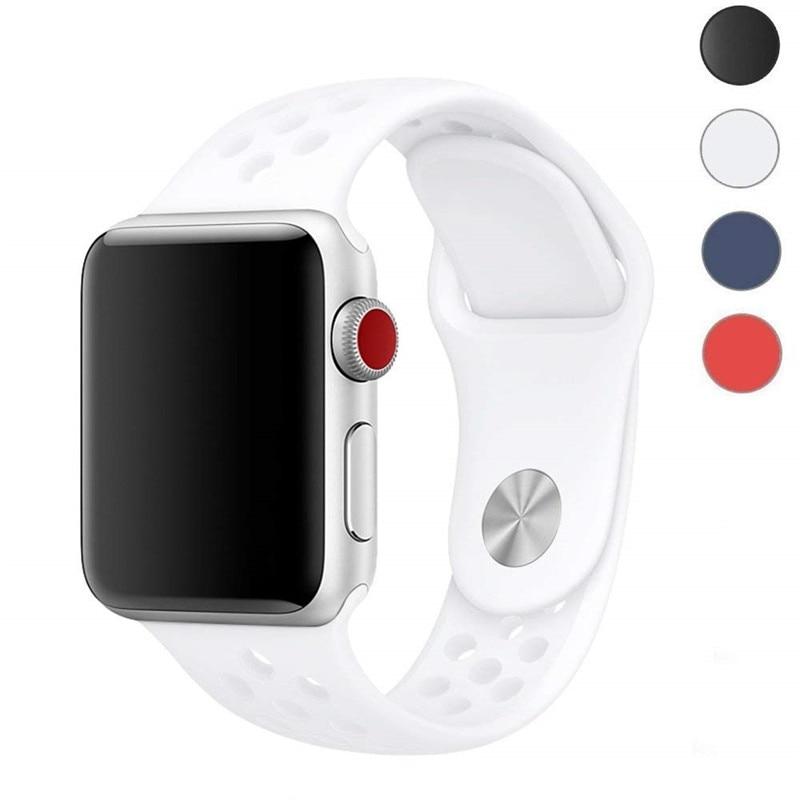 Banda deportiva ASHEI para Apple Watch 42mm 38mm correa de silicona suave bandas de repuesto para Apple iWatch Series 3/2/1 Watchbelt
