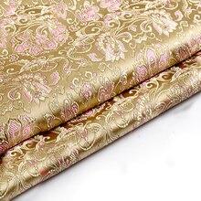 Tissu de Brocade métallique Jacquard de style japonais   Tissu teint en fil jacquard 3D pour femmes, jupe de robe de manteau de 75x100cm