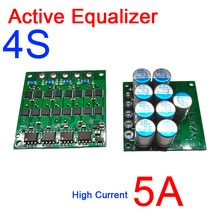 4S 3S 12V Lithium-ionen Lifepo4 batterie Aktive Equalizer schutz bord 5A strom ladung pumpe Äquivalent parallel balance