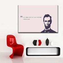 Toile imprimée pour peinture du salon   1 pièce, Abraham Lincoln citation dinspiration, décoration moderne, Art mural
