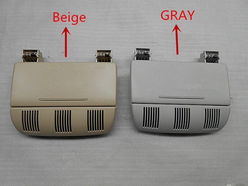 Caja de gafas de sol de Color gris o Beige caja de gafas de sol contenedor soporte para lentes para Skoda Octavia Fabia Roomster 1Z0 868 565 E F