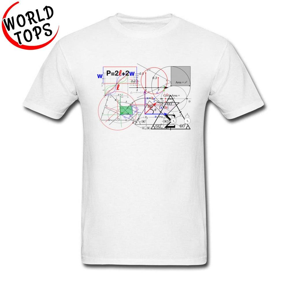Grande bang matemática física equação código tshirt 100% algodão tecido masculino estilo simples encabeça camisas juventude estudante universitário t camisas branco