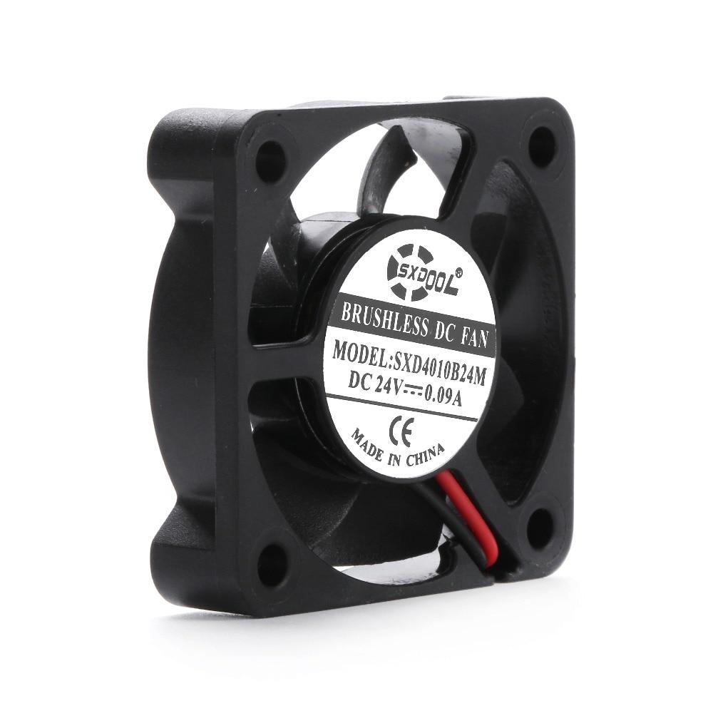 4010 24v sxdool SXD4010B24M = AD0424UB-G70 DC 24V 0.09a 010 40*40*10 мм 2 провода 6800 об/мин двойной шарикоподшипник Вентилятор охлаждения