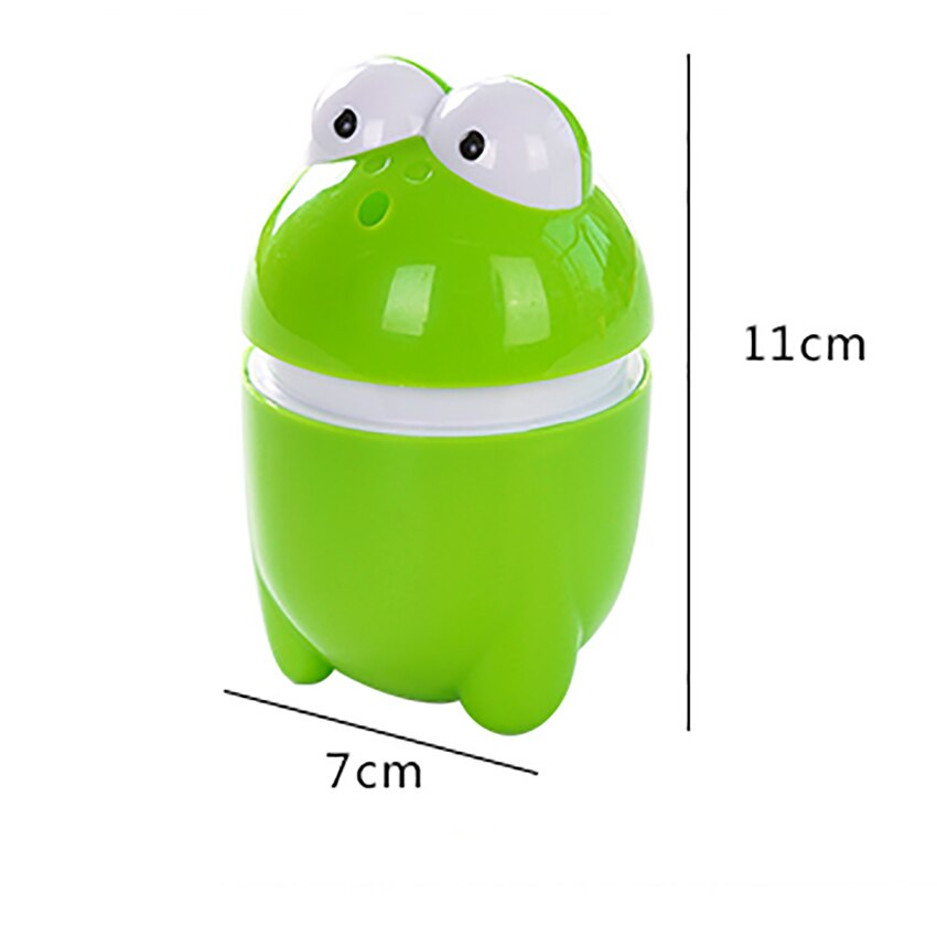 Купить с кэшбэком Cute Toothpick Box Frog Automatic Toothpick Holder Cartoon Plastic Bucket Toothpicks Storage Boxes Dispenser Home Decoration NEW