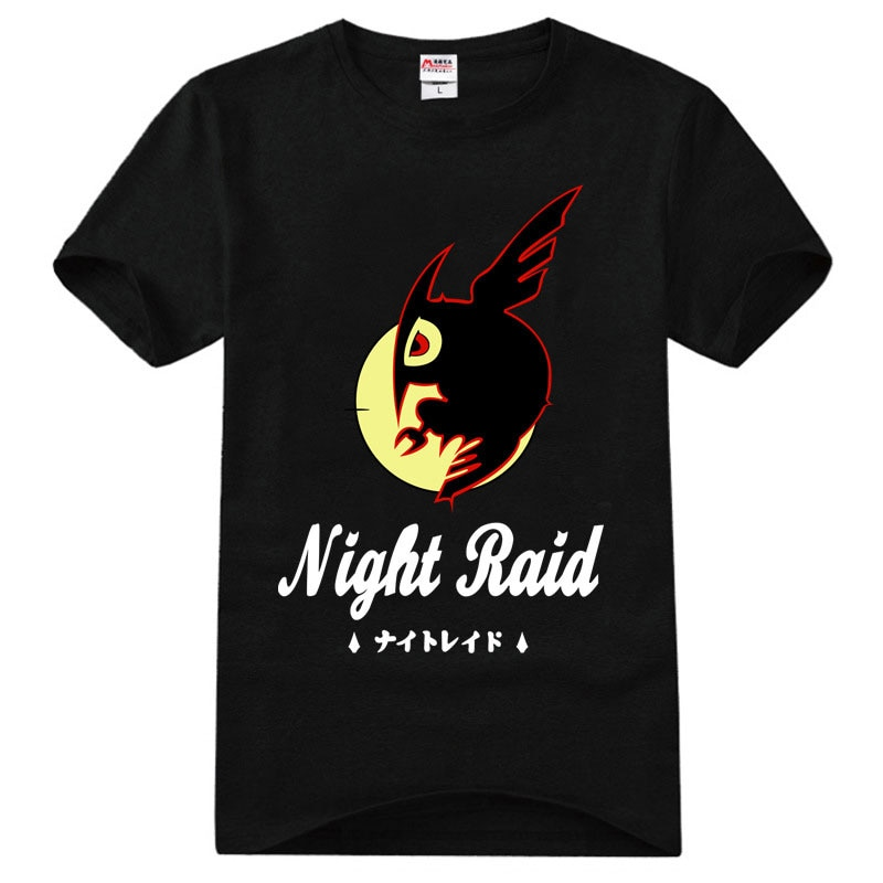 Akame Ga KILL Night Raid camisetas de manga corta raglán Bottoming Slim Camiseta básica cuello redondo Casual camisetas Cosplay Tops regalo