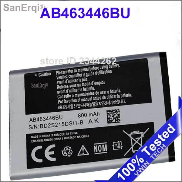 Аккумулятор для Samsung C3300 C3300K X208 B189 B309 F299 AB463446BU 800 мАч