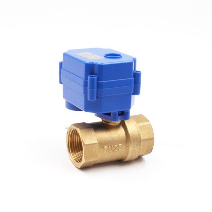 Válvula de bola de latón eléctrica CWX-15 DN15 DC12v válvula motorizada para control de agua lavavajillas