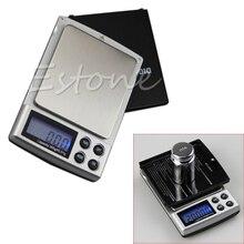 1000g/0,1g Waage Digital LCD bolsillo joyería oro gramo Balance peso Mini escala