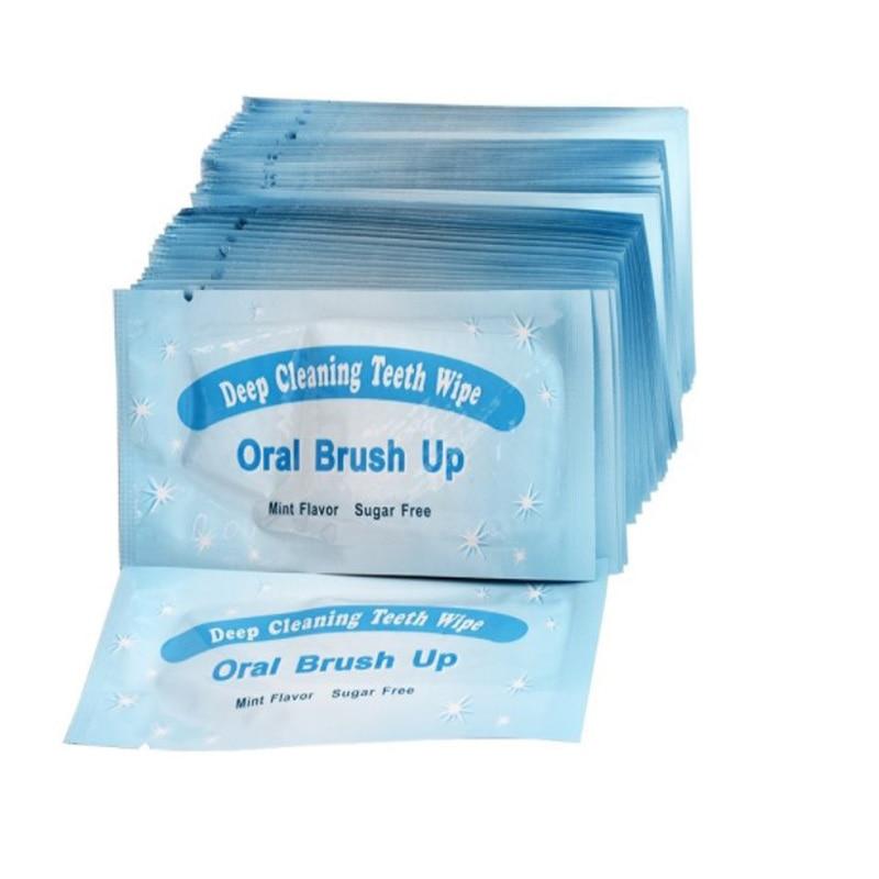 Toallitas de limpieza profunda para dedo, 200 Uds., para blanquear los dientes, con textura