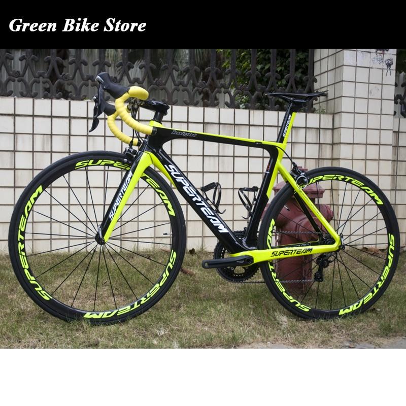 Superteam, bicicleta de carretera completa de carbono AERO007, bicicleta de carbono de diseño aerodinámico con Shiman UItegra 6800 22 velocidades