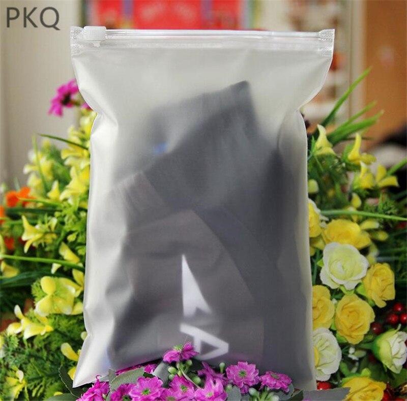 50 Uds. Bolsa de almacenamiento impermeable para ropa interior zapatos Frosted embalaje bolsa de viaje equipaje organizador mate bolsas de ropa
