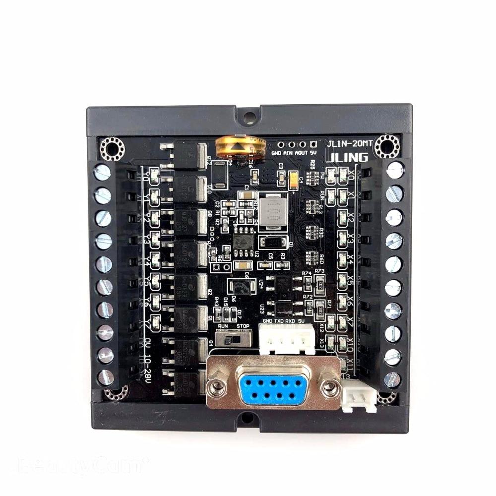 PLC FX1N-20MT السكك الحديدية تصاعد مع نفس نقطة حجم plc وحدة تحكم منطقية قابلة للبرمجة المدخلات 12 نقطة الإخراج 8 نقاط