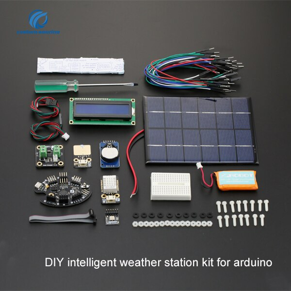 Frete grátis diy kit estação meteorológica inteligente para arduino kit melhor 190*140*100mm eletrônico diy kit