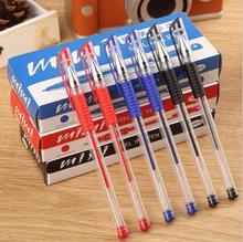 12 PCS / lot stationery store European standard gel pen school supplies Red Blue Black gel pen / neutral pen 0.5 Carbon pen