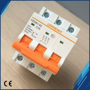 Newly fashion shape main switch function 16A 440VAC  miniature Circuit breaker 3P for office building and residential lighting