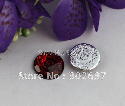 80PCS Red Tassel Acrylic Rhinestone Flatback 20mm #21991