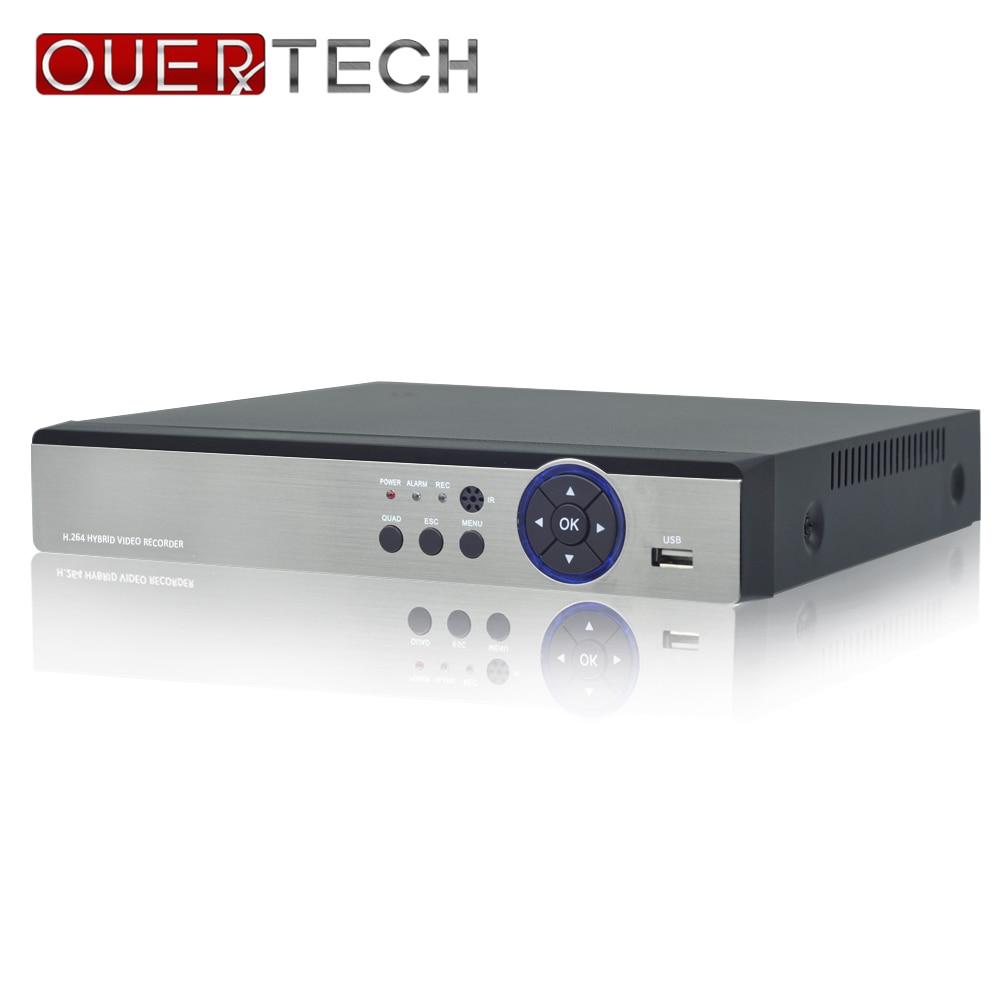 OUERTECH-مسجل فيديو شبكي AHD CVI TVI IP CVBS 5 in1 4CH/8CH 5MP H.264 شبه H.265 HDVR 4CH RCA Audio IN 1 SATA HDD ONVIF