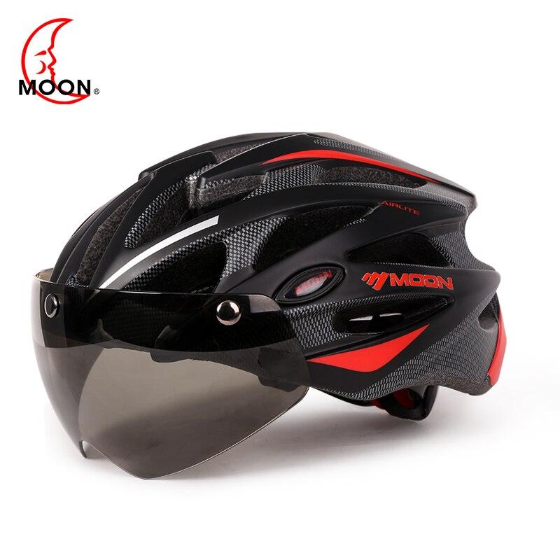 Casco de Ciclismo de seguridad en bicicleta de montaña MOON para hombre/mujer casco de succión magnética de moldeado integrado PC + EPS 4 colores Talla M L
