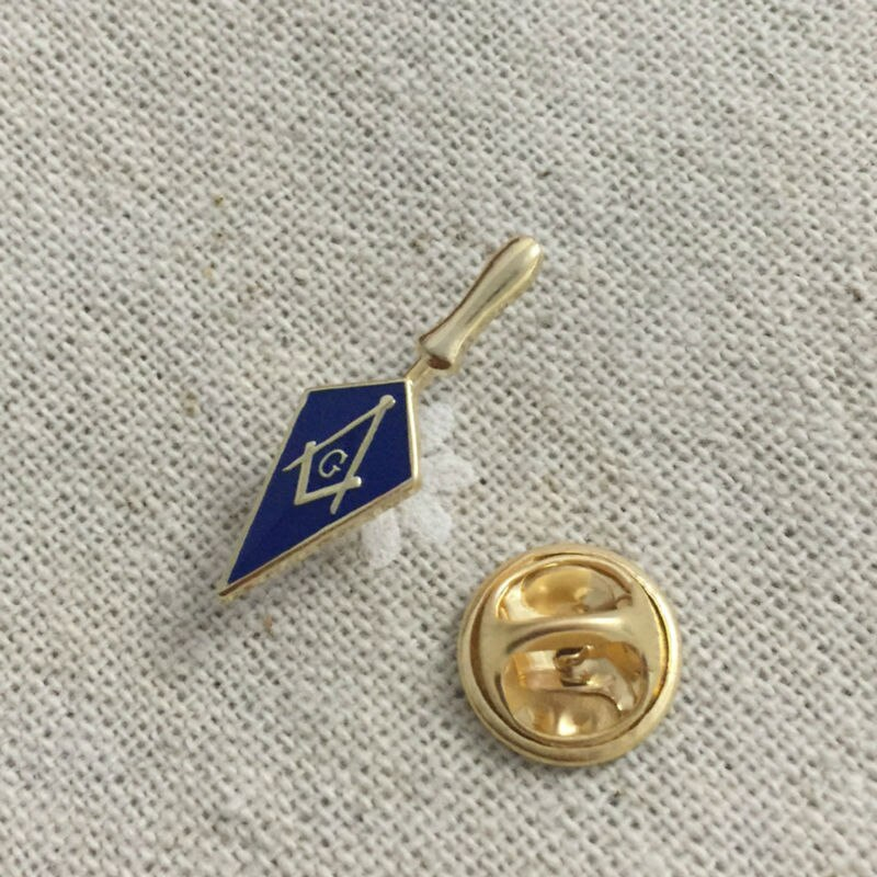2pcs Trowel Masonic Freemason Tool Masonry Square and Compass Lapel pin A perfect gift for the fellow Free masons Badges Brooch