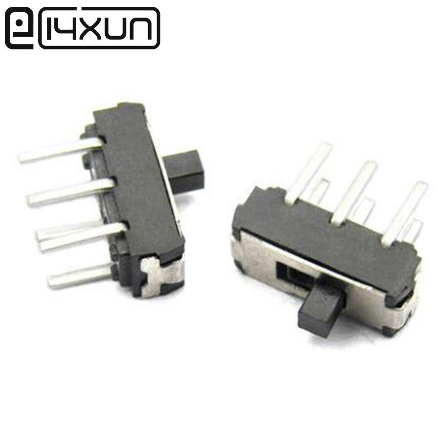 EClyxun-MINI interrupteur à trempette Miniature 5 pièces, 2P2T 6 broches pour bricolage, MSS22D18, accessoires électroniques