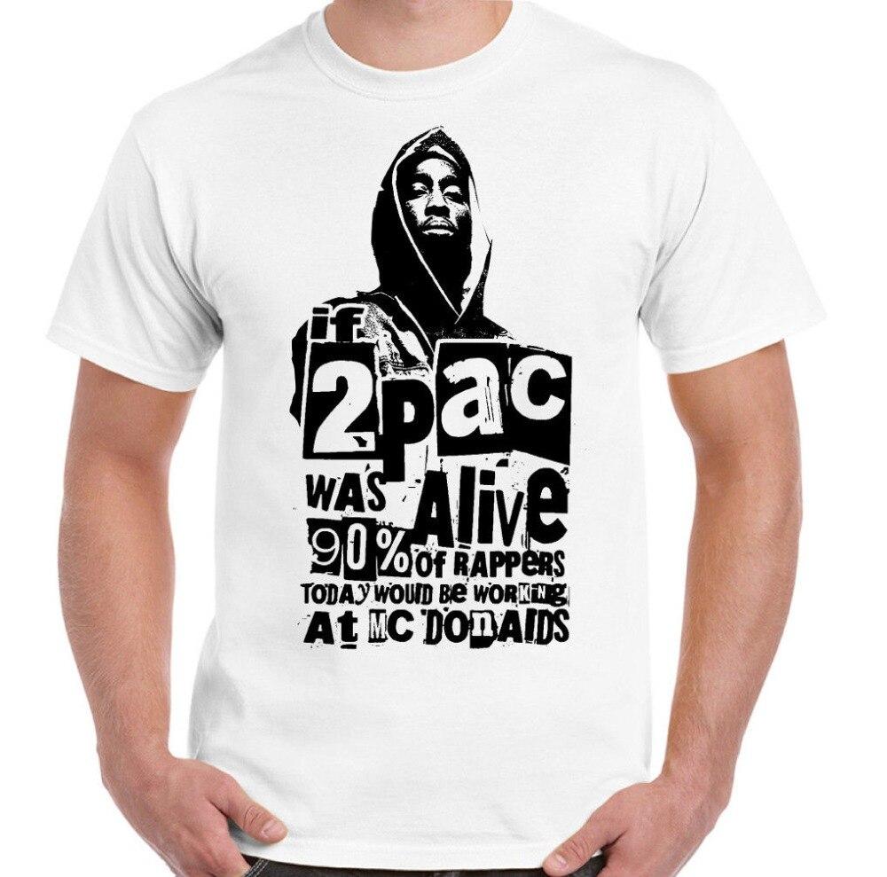 Los hombres T camisa Verano de 2019 100% de algodón si 2Pac estaba vivo para hombre Camiseta raperos Tupac Shakur Biggie Smalls 2 Pac gran sudaderas con capucha