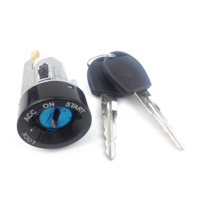 Cerradura de cilindro de encendido de coche con llave para Daewoo 1 #93740298 96414708