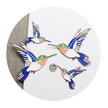 Новинка, имитирующая ткань hummingbird, маленький размер, пластыри для птиц, джинсовая сумка для украшения одежды, клейкая вставка для вышивки