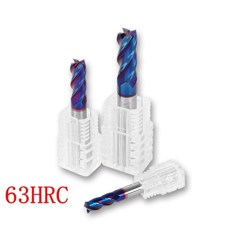 3 шт. HRC45 HRC55 HRC60 HRC65 4F 2 флейты 6x100 мм 6 мм CNC инструмент Концевая фреза R3 шаровая Концевая фреза алюминиевая фреза