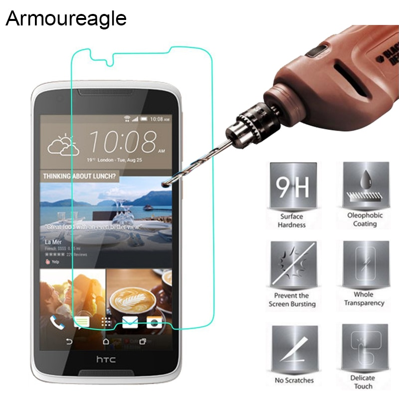 2.5D 0.26mm 9H Safety Premium Tempered Glass For HTC Desire 828 Screen Protector Toughened protectiv