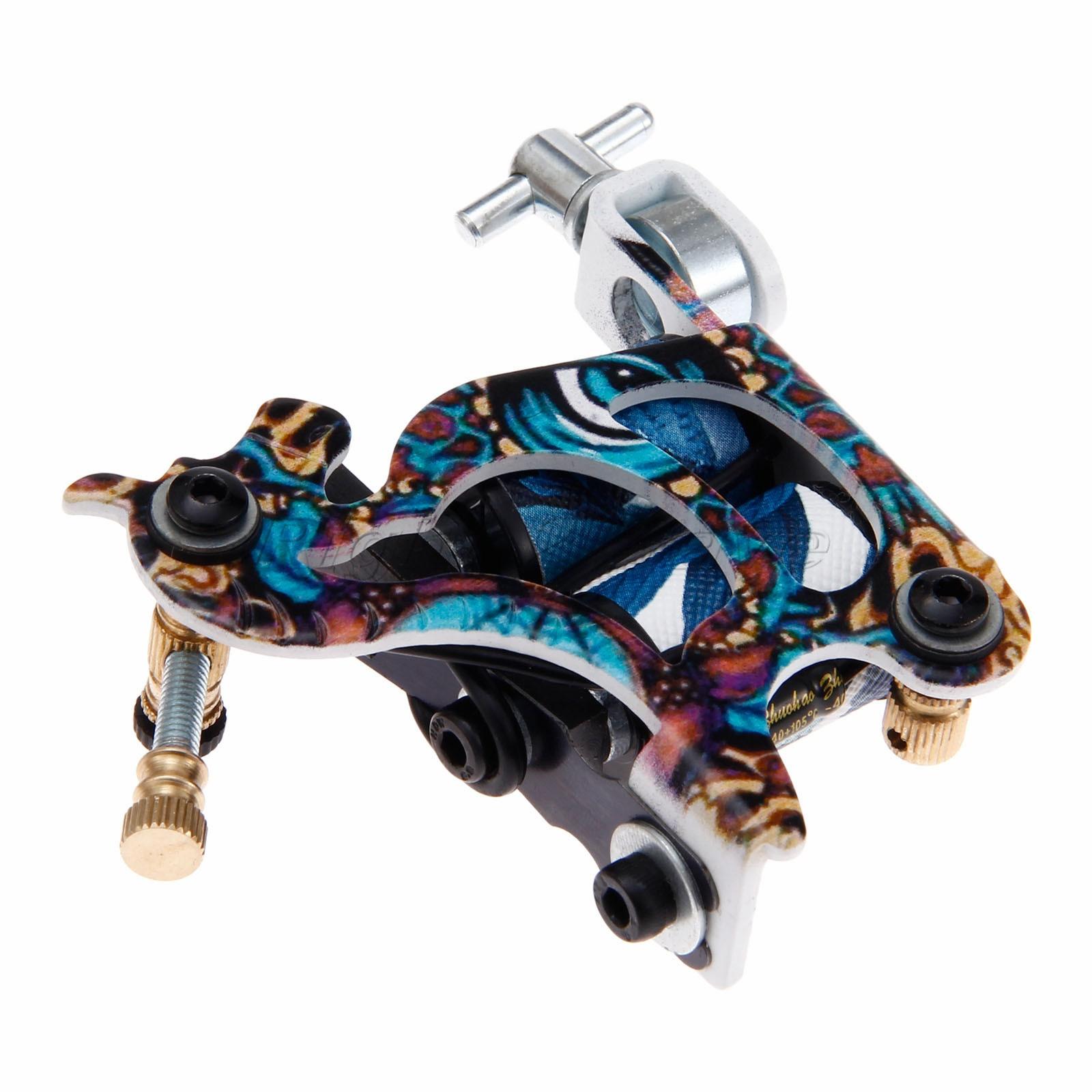 Arma tatuagem Máquina de Tatuagem Aço Carbono Liner & Shader 8.8 centímetros * 8.2 centímetros * 2.2 centímetros de Ferro Profissional Tattoo fonte de Alimentação de Moagem Ferramenta