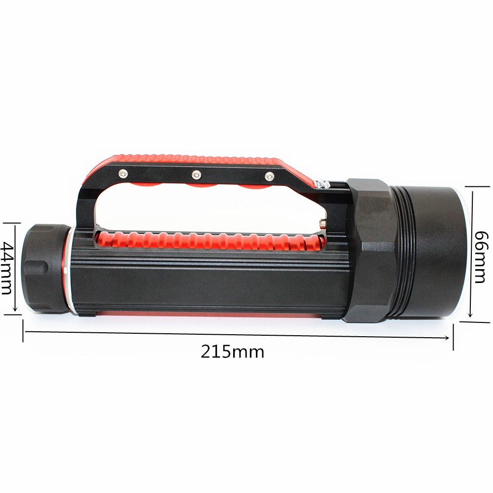 LED Flashlight XHP70 4000LM Waterproof Diving Light Torch Power by 26650 Li-ion battery EU/US Plug Charger enlarge