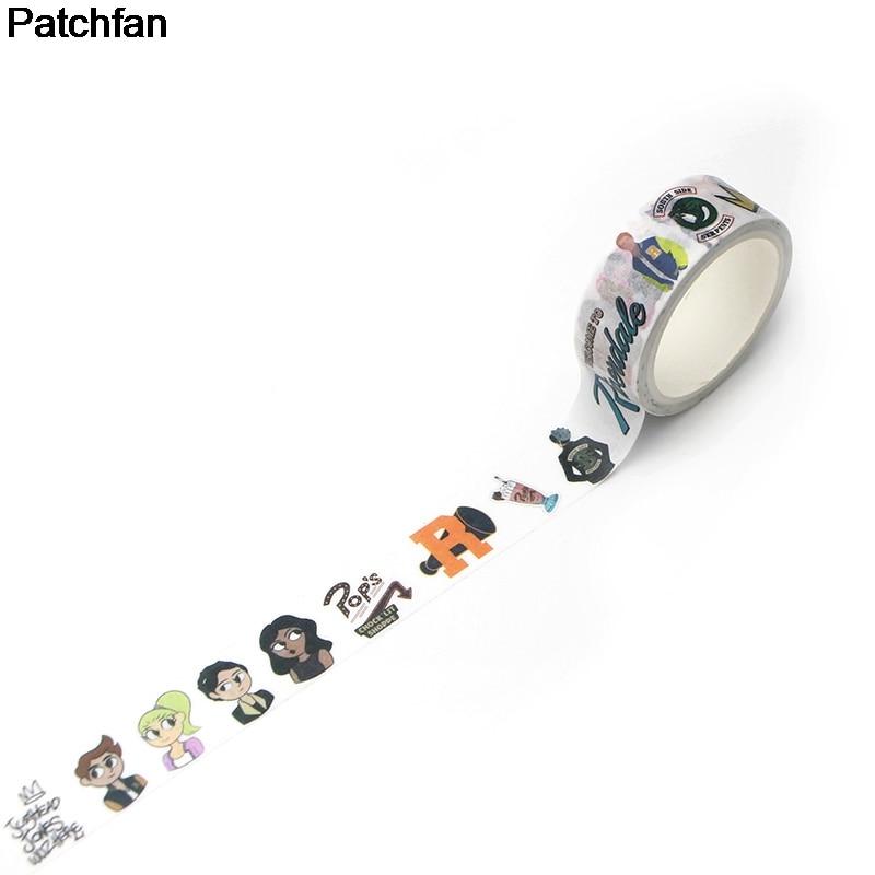Смешная клейкая лента для скрапбукинга DIY для фанатов ривердейла Patchfan, клейкая лента для маскировки бумаги, наклейки с принтами, наклейки A1958