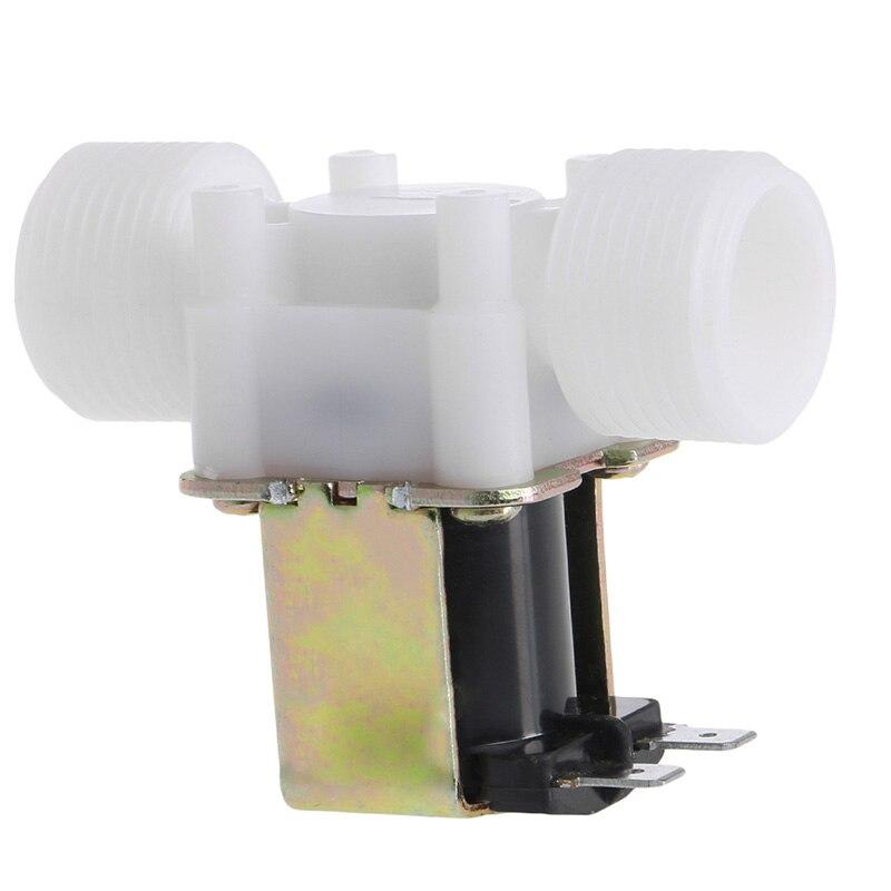 "Válvula de solenoide eléctrica 3/4 ""DC 12V PP N/C, dispositivo desviador de Control de agua"