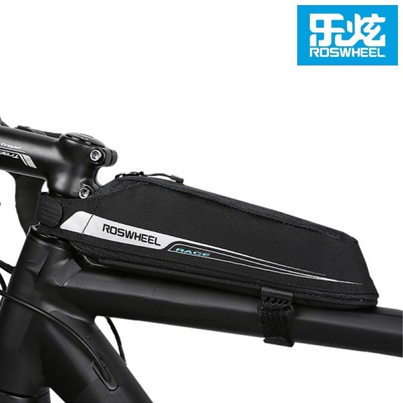 ROSWHEEL Cycling Aero Compact Top Tube Bag Bicycle Front Beam Storage Pouch Road Bike Stem Mount Pannier Bicicleta Triathlon Bag
