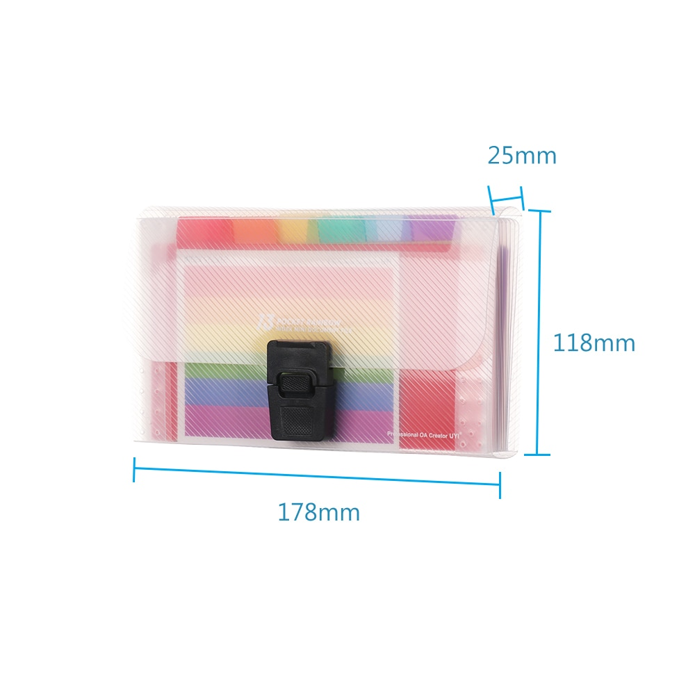 A6 Plastic Portable File Folder Extension Wallet Bill Receipt File Sorting Organizer Office Storage Bag Folders Filing Products