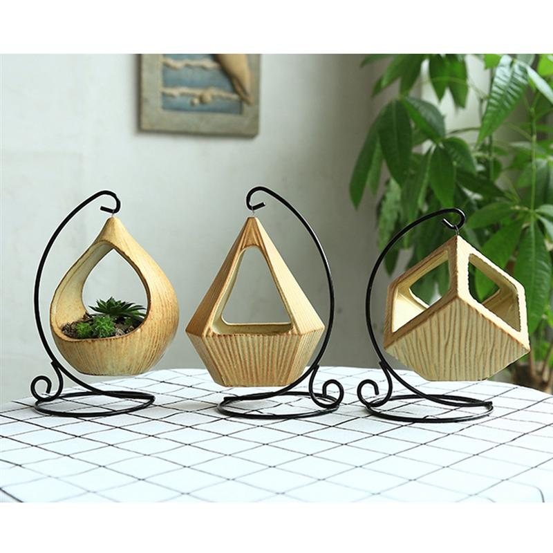 Hanging Flowerpot Decorative Mini Ceramic Creative Hanging Planter Water Plant Vase Flower Pot for Garden Balcony Home