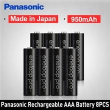 Panasonic Pro Original AAA batterie Rechargeable haute capacité 950mAh Batteries 8 pièces/lot Eneloop NI-MH batterie pré-chargée