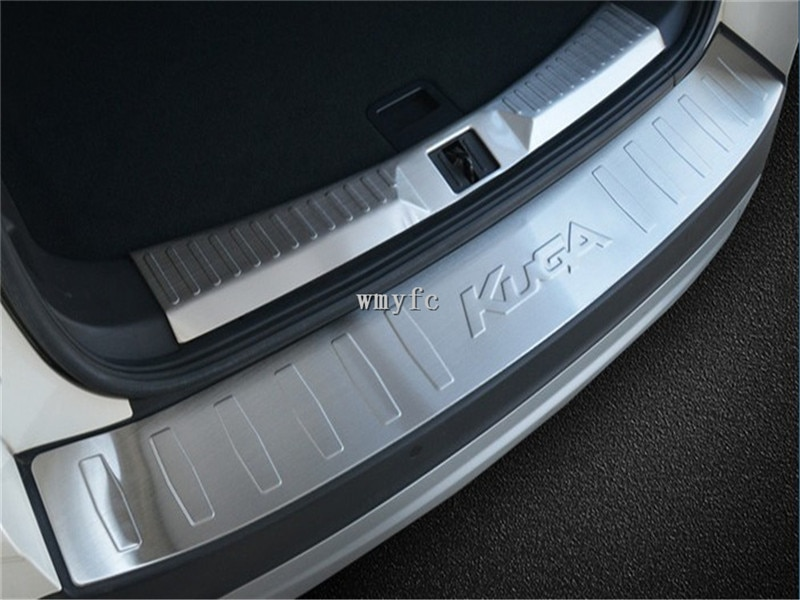 Parachoques trasero de acero inoxidable 304, protector de alféizar, embellecedor de placa de rodadura para coche, diseño para ford Kuga 2013-2019, accesorios para coche 2 uds