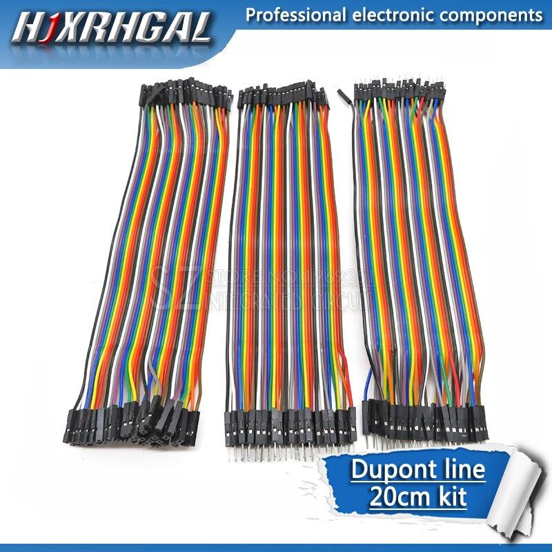 Dupont line 120 Uds 20cm macho a macho + macho a hembra y hembra a hembra cable de puente Dupont cable para Arduino diy kit hjxrhgal