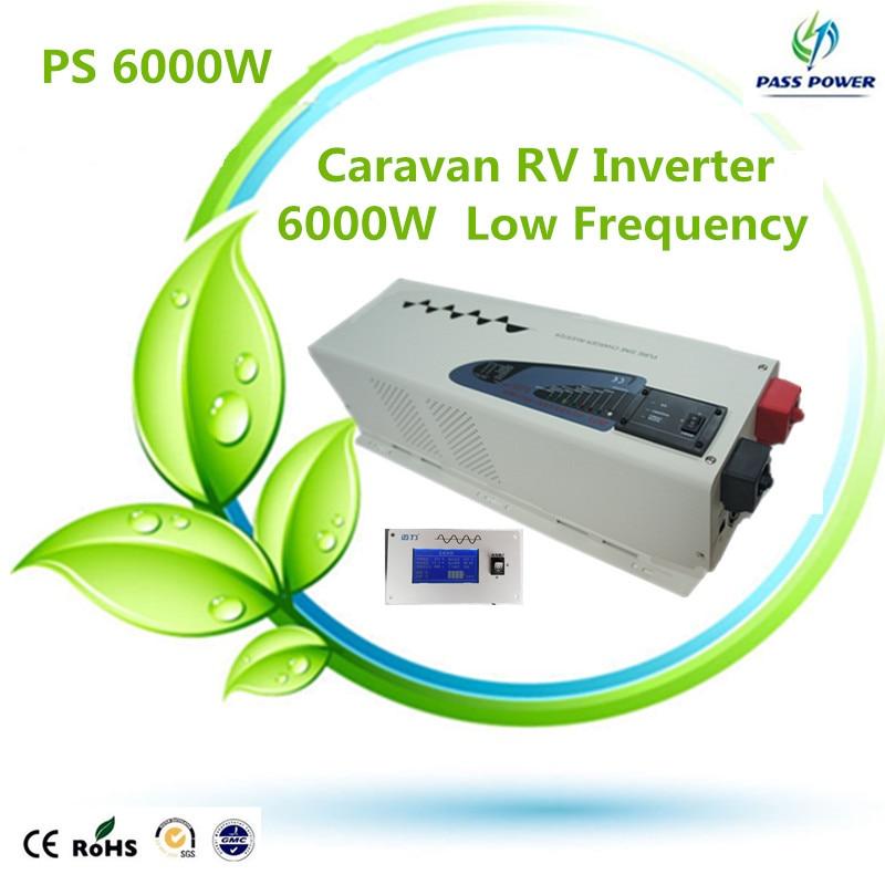2016 de baja frecuencia inversor híbrido solar de CC a CA inversor 6000w 6kw 24 v/48 v 220VAC 110VAC 50 HZ/60 HZ inversor de CC a CA