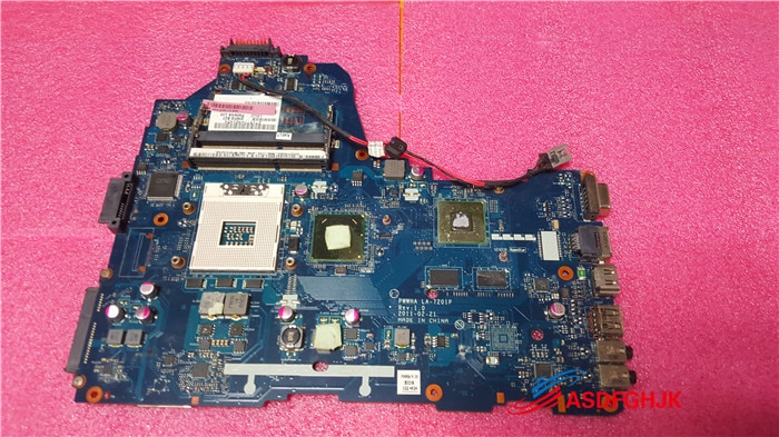 K000124390 para Toshiba Satellite C660 Motherboard PWWHA LA-7201P 100% bien probado