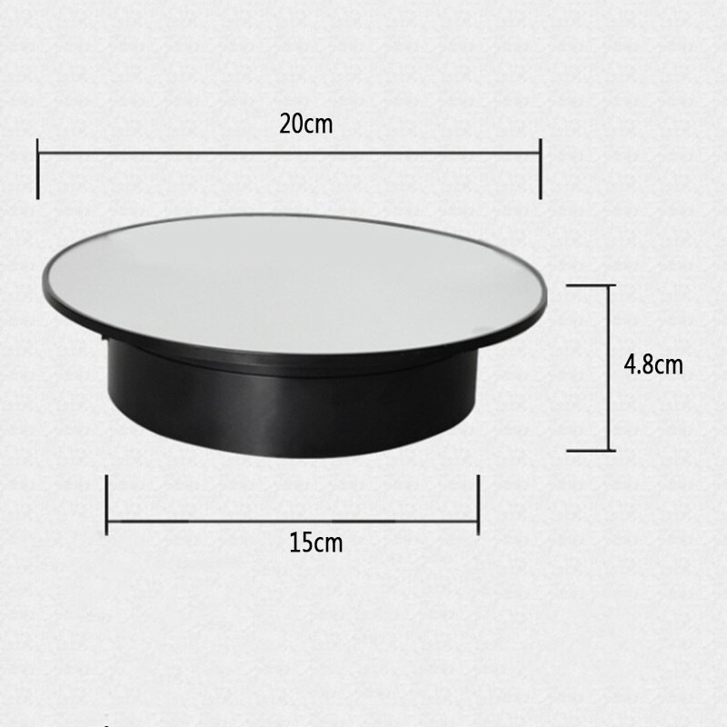 Soporte giratorio eléctrico de 360 grados para pantalla giratoria para fotografía carga máxima 1,5 kg accesorios de grabación de vídeo batería giratoria