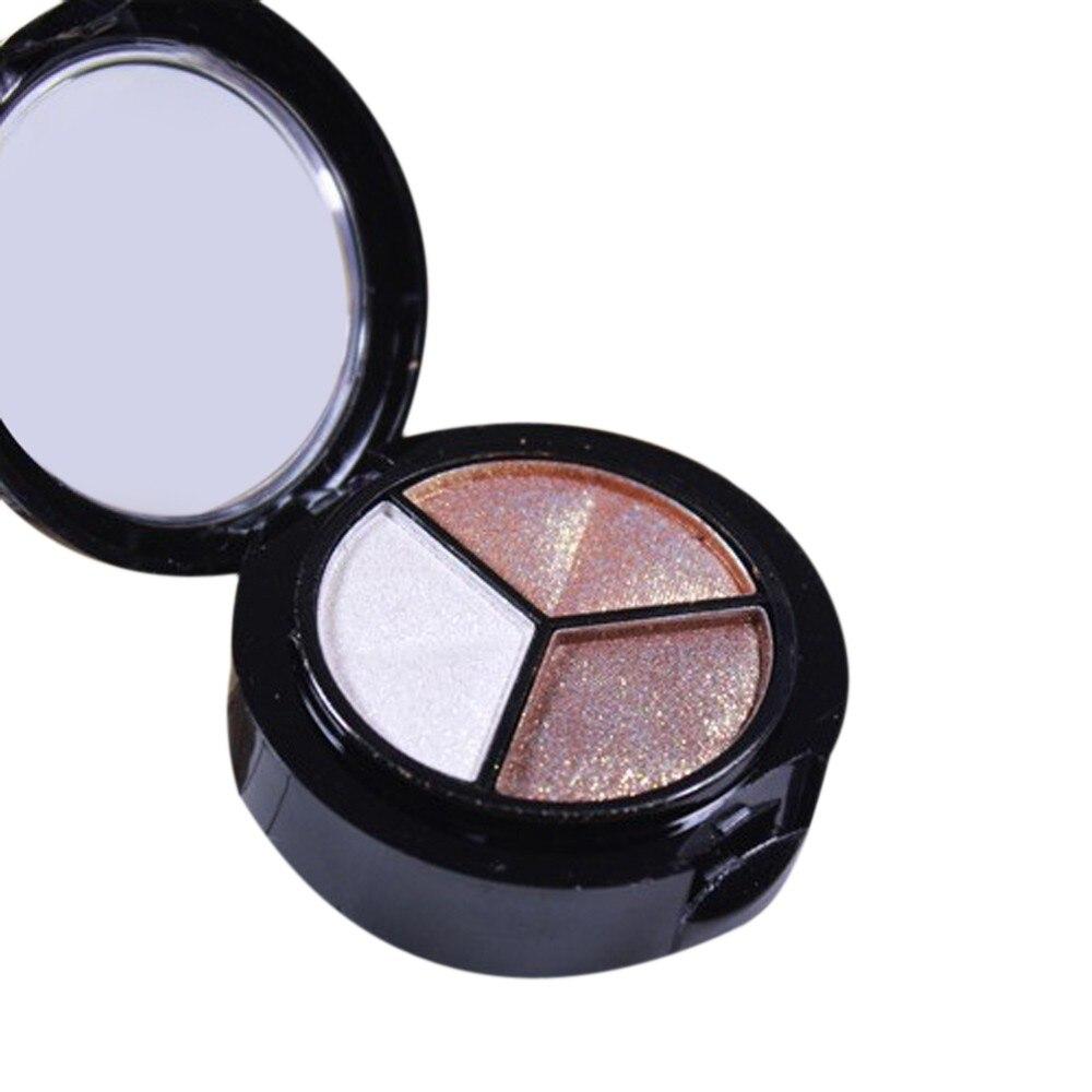 Glitter lidschatten Smoky Kosmetik Set 3 farben Professionelle Natürliche Matte Make-Up Lidschatten paletas de sombras nuevas 2019 # y2