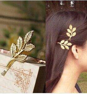 Accesorios para el cabello de la boda de la nueva moda hojas de ramas de olivo hermoso horquilla de la novia carpeta lateral joyería diademas para las mujeres